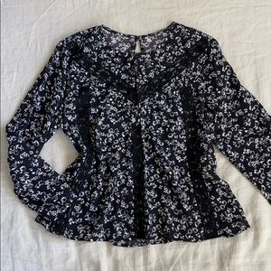 3 for $20 MICHAEL STARS Lace Floral Blouse